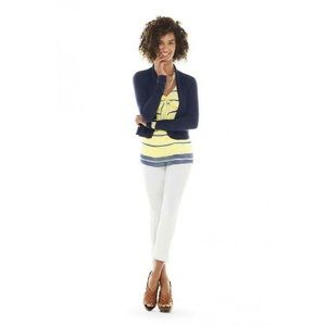 CAbi Navi Blue Cardigan Sweater, Size S